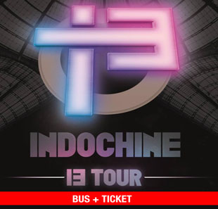 Pop-rock INDOCHINE BUS EN TICKET