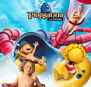 Parc d'attraction PLOPSAQUA LA PANNE - PROMOTION ADULTE/ENFANT >1M DE PANNE