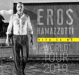 Variété internationale EROS RAMAZZOTTI TOURNEE 2019