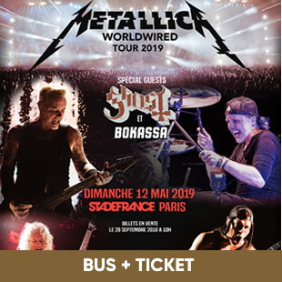 Hardrock METALLICA BUS & TICKET PARIS