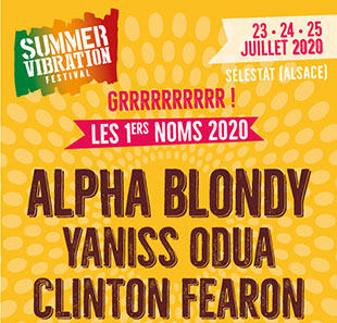 Traditionele Franse muziek SUMMER VIBRATION FESTIVAL PASS 3 JOURS DU 23 AU 25/07/20 SELESTAT