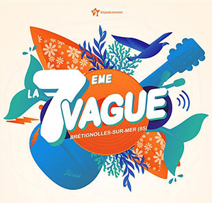 Pop-rock FESTIVAL LA 7EME VAGUE -PASS 1 JOUR BRETIGNOLLES SUR MER