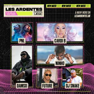 Pop-rock LES ARDENTES - 4DAY PASS + CAMPING CAMPING REGULAR LIEGE